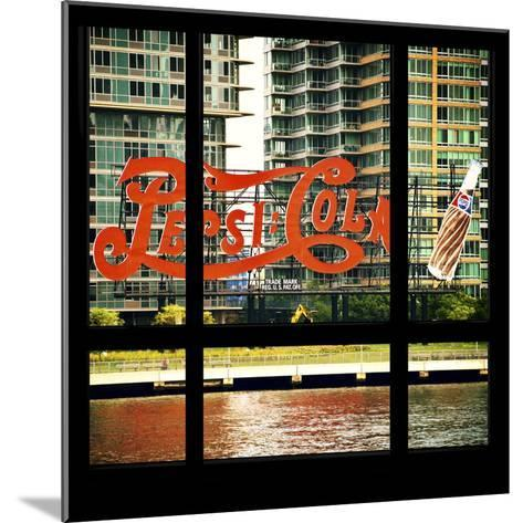 View from the Window - NYC Urban Sign-Philippe Hugonnard-Mounted Photographic Print