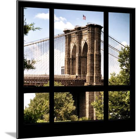 View from the Window - Brooklyn Bridge-Philippe Hugonnard-Mounted Photographic Print