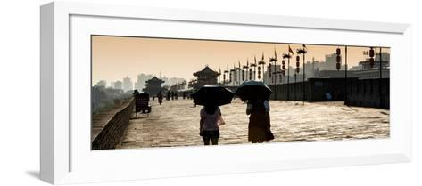 China 10MKm2 Collection - Walk on the City Walls at Sunset - Xi'an City-Philippe Hugonnard-Framed Art Print