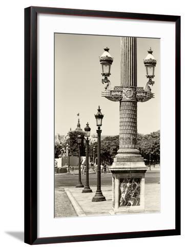 Paris Focus - Row of Lamps-Philippe Hugonnard-Framed Art Print