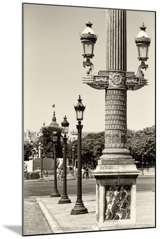 Paris Focus - Row of Lamps-Philippe Hugonnard-Mounted Photographic Print