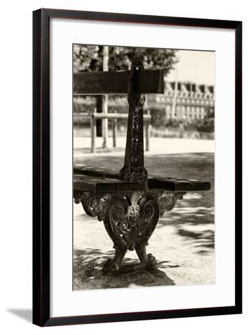 Paris Focus - Public Bench-Philippe Hugonnard-Framed Art Print
