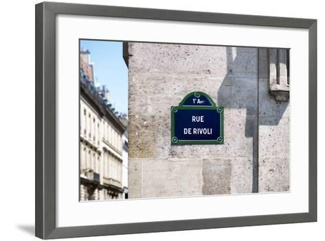 Paris Focus - Rue de Rivoli-Philippe Hugonnard-Framed Art Print