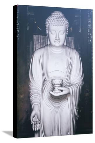 China 10MKm2 Collection - White Buddha-Philippe Hugonnard-Stretched Canvas Print