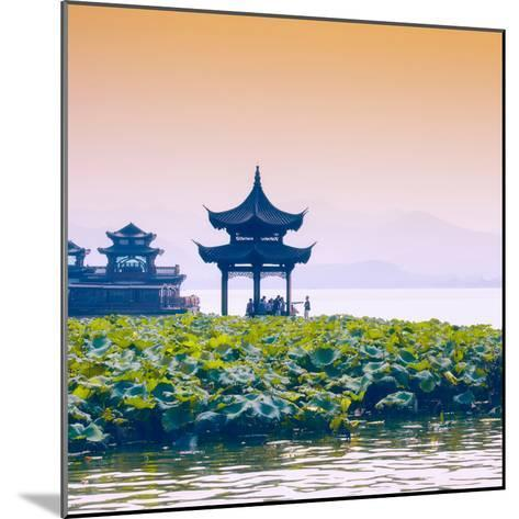China 10MKm2 Collection - West Lake at sunset-Philippe Hugonnard-Mounted Photographic Print