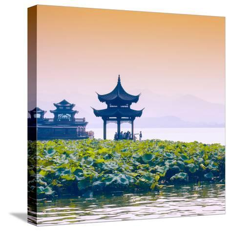 China 10MKm2 Collection - West Lake at sunset-Philippe Hugonnard-Stretched Canvas Print