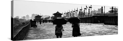 China 10MKm2 Collection - Walk on the City Walls - Xi'an City-Philippe Hugonnard-Stretched Canvas Print