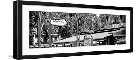 Paris Focus - Metropolitain Saint Michel-Philippe Hugonnard-Framed Art Print
