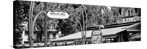 Paris Focus - Metropolitain Saint Michel-Philippe Hugonnard-Stretched Canvas Print