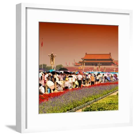 China 10MKm2 Collection - Tiananmen Square-Philippe Hugonnard-Framed Art Print