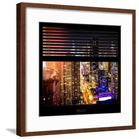View from the Window - Midtown Manhattan Night-Philippe Hugonnard-Framed Art Print