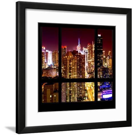 View from the Window - Midtown Manhattan Night-Philippe Hugonnard-Framed Art Print
