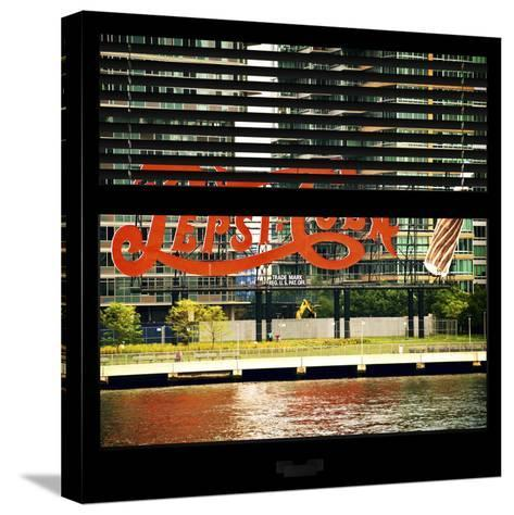 View from the Window - NYC Urban Sign-Philippe Hugonnard-Stretched Canvas Print