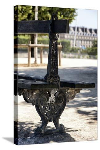 Paris Focus - Public Bench-Philippe Hugonnard-Stretched Canvas Print