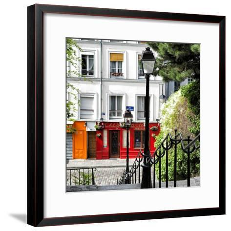 Paris Focus - Steps to Montmartre-Philippe Hugonnard-Framed Art Print