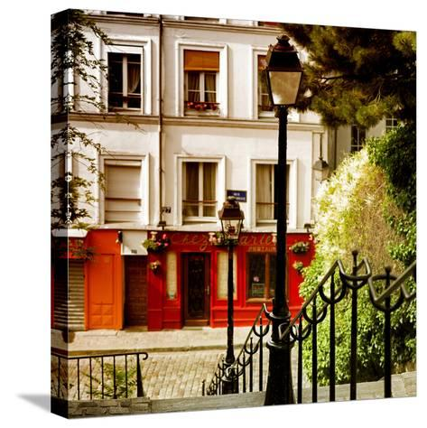 Paris Focus - Steps to Montmartre-Philippe Hugonnard-Stretched Canvas Print