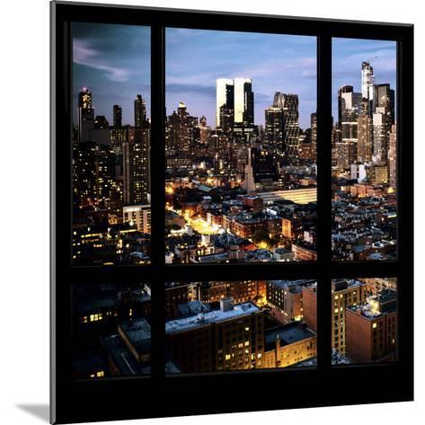 View from the Window - Manhattan Night-Philippe Hugonnard-Mounted Photographic Print