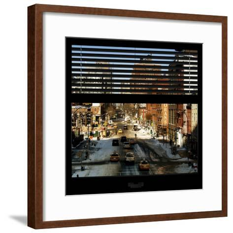 View from the Window - Manhattan Winter-Philippe Hugonnard-Framed Art Print