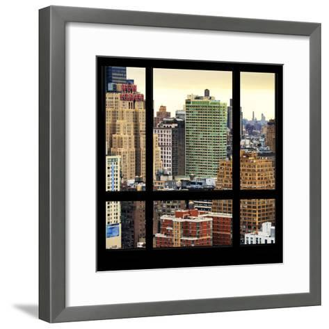 View from the Window - Hell's Kitchen - NYC-Philippe Hugonnard-Framed Art Print