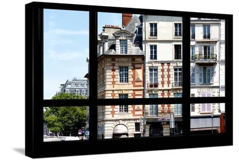 Paris Focus - Paris Window View-Philippe Hugonnard-Stretched Canvas Print