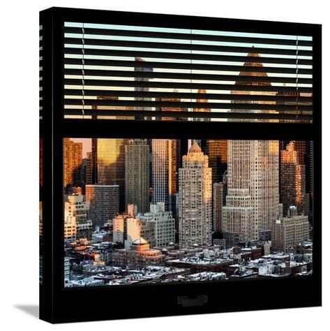 View from the Window - Hell's Kitchen at Sunset - Manhattan-Philippe Hugonnard-Stretched Canvas Print