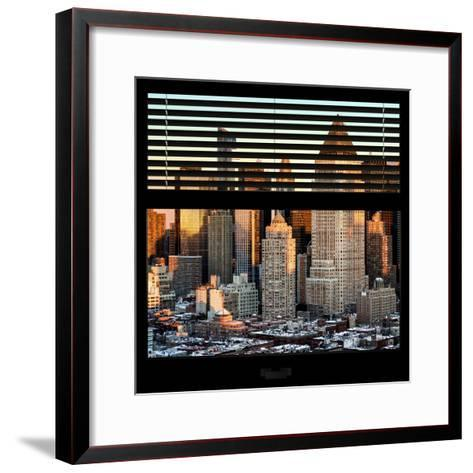 View from the Window - Hell's Kitchen at Sunset - Manhattan-Philippe Hugonnard-Framed Art Print