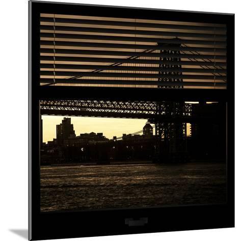View from the Window - Williamsburg Bridge - New York-Philippe Hugonnard-Mounted Photographic Print