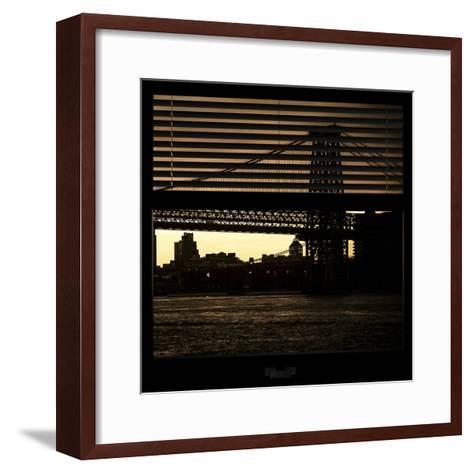 View from the Window - Williamsburg Bridge - New York-Philippe Hugonnard-Framed Art Print