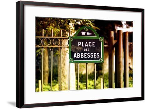 Paris Focus - Place des Abbesses - Montmartre-Philippe Hugonnard-Framed Art Print