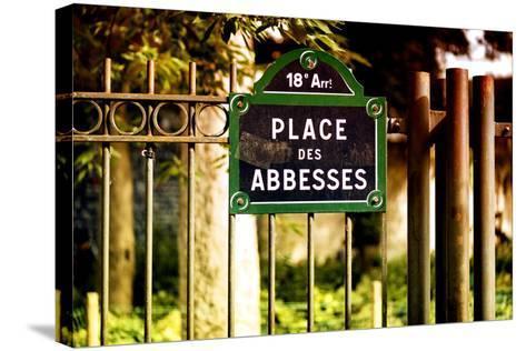 Paris Focus - Place des Abbesses - Montmartre-Philippe Hugonnard-Stretched Canvas Print