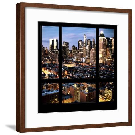 View from the Window - Manhattan Night-Philippe Hugonnard-Framed Art Print