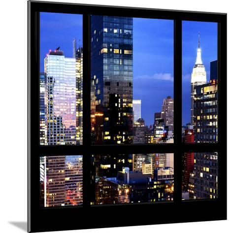 View from the Window - Manhattan Night-Philippe Hugonnard-Mounted Photographic Print