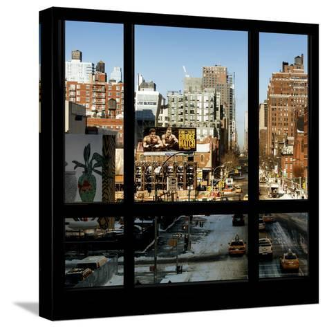 View from the Window - Manhattan Winter-Philippe Hugonnard-Stretched Canvas Print