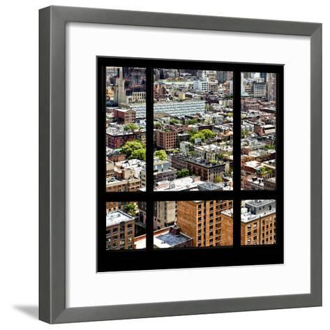 View from the Window - Midtown Manhattan-Philippe Hugonnard-Framed Art Print