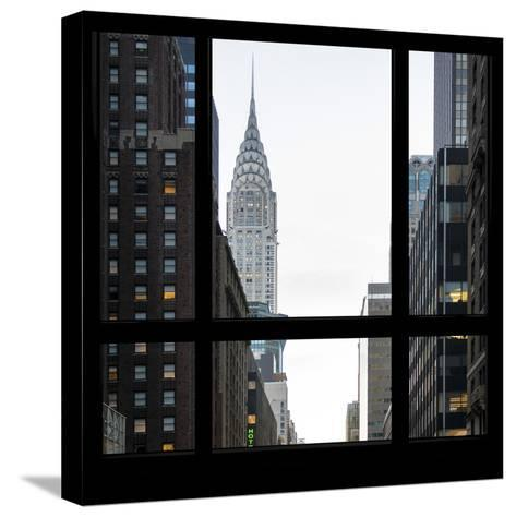 View from the Window - Empire State Building-Philippe Hugonnard-Stretched Canvas Print