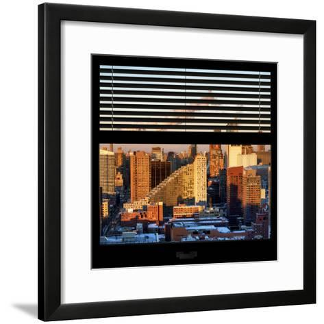 View from the Window - Midtown Manhattan at Sunset-Philippe Hugonnard-Framed Art Print