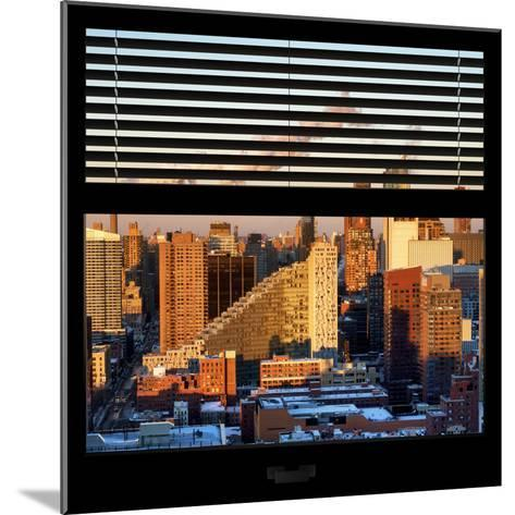 View from the Window - Midtown Manhattan at Sunset-Philippe Hugonnard-Mounted Photographic Print