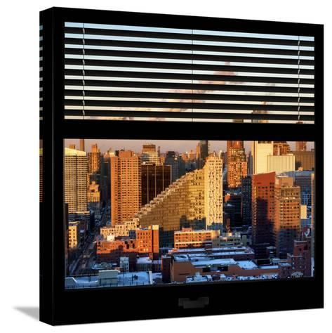View from the Window - Midtown Manhattan at Sunset-Philippe Hugonnard-Stretched Canvas Print