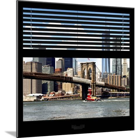 View from the Window - NYC Skyline and Brooklyn Bridge-Philippe Hugonnard-Mounted Photographic Print