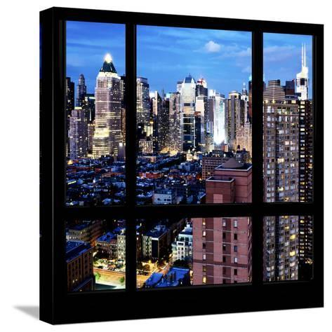 View from the Window - Manhattan Night-Philippe Hugonnard-Stretched Canvas Print