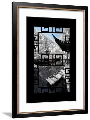 China 10MKm2 Collection - Asian Window - Another Look Series - Boat Trip-Philippe Hugonnard-Framed Art Print