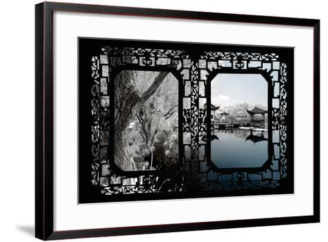 China 10MKm2 Collection - Asian Window - Another Look Series - Blue Lagoon-Philippe Hugonnard-Framed Art Print