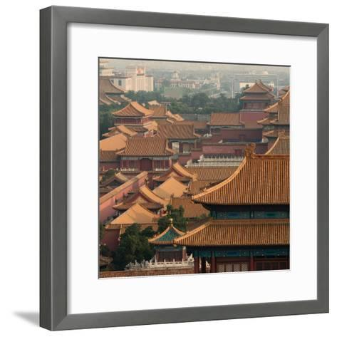 China 10MKm2 Collection - View of the roofs of Forbidden City-Philippe Hugonnard-Framed Art Print