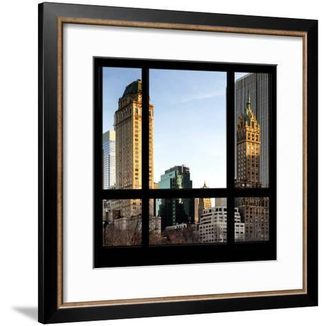 View from the Window - Central Park Buildings at Sunset-Philippe Hugonnard-Framed Art Print