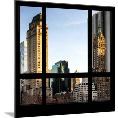View from the Window - Central Park Buildings at Sunset-Philippe Hugonnard-Mounted Photographic Print