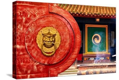 China 10MKm2 Collection - The Door God - Yin Yang-Philippe Hugonnard-Stretched Canvas Print