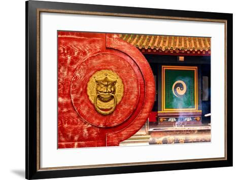 China 10MKm2 Collection - The Door God - Yin Yang-Philippe Hugonnard-Framed Art Print