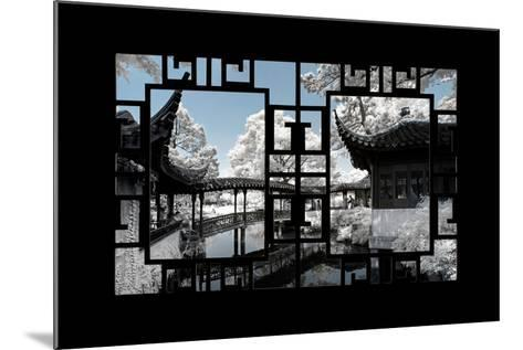 China 10MKm2 Collection - Asian Window - Another Look Series - Black Chinese Temple-Philippe Hugonnard-Mounted Photographic Print