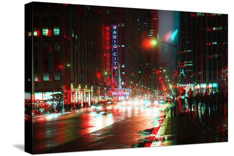 After Twitch NYC - Urban City-Philippe Hugonnard-Stretched Canvas Print