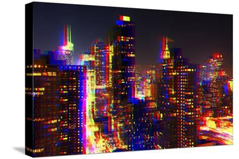 After Twitch NYC - Towers Night-Philippe Hugonnard-Stretched Canvas Print